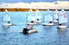 Navigando nella Gold Coast Queensland Australia Fotografie Stock Libere da Diritti