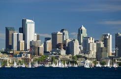 Navigando a Seattle Fotografie Stock Libere da Diritti