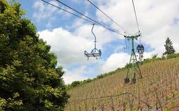 Navigando sopra le vigne. Fotografia Stock