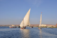 Navigando sul Nilo Fotografia Stock