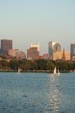 Navigando sul san Charles River a Boston Immagine Stock