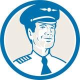 Navigatör Circle Retro för flygtekniker Arkivbilder