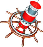 Navigate. 3D illustration of an navigation system Stock Photography