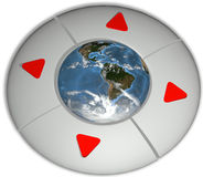 Navigate Earth Direction Environment Buttons Stock Images