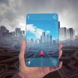 Navigateur de GPS Images libres de droits
