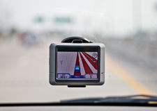 Navigateur de GPS dans le véhicule Image stock