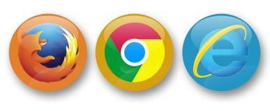 Navigateurs de Web illustration stock