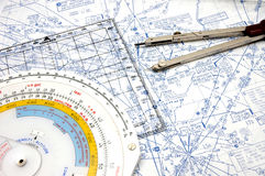 Navigatie 3 van de luchtroute Royalty-vrije Stock Afbeelding