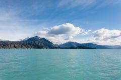 Navigatie op Argentino-meer, het landschap van Patagoni?, Argentini? stock afbeelding