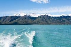 Navigatie op Argentino-meer, het landschap van Patagoni?, Argentini? stock fotografie