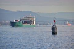 Navigatiebaken voor Oceaanbulkcarriers Stock Afbeelding