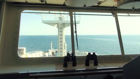 Navigatiebrug van het wiel van schipkapiteins, controle van het schip