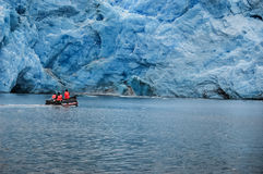 Navigating below the glaciers Royalty Free Stock Photos