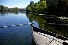 Navigating the Ebro river royalty free stock photo