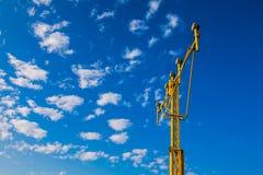 Navigating landing lights. Under blue sky Royalty Free Stock Image