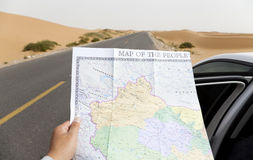 Navigating the roads Stock Photography