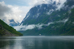 Navigating Sognefjord Royalty Free Stock Photography