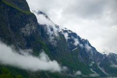 Navigating Sognefjord Stock Photography