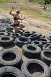 Navigating the tires Royalty Free Stock Photography