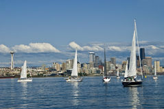 Navigation à Seattle images stock