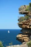 Falaises côtières de Sydney, Australie Images libres de droits