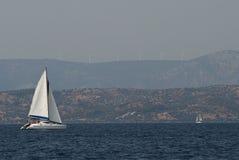 Navigation éolienne Image libre de droits