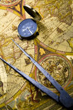 Navigation. Map is a drawing or plan of the surface of the earth that shows countries, mountains, roads, etc Stock Photography