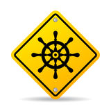 Navigation abstract vector sign Stock Images