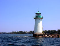 Navigation Aid Lighthouse on the St Lawrence River Royalty Free Stock Photo