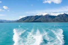 Navigation on Argentino lake, Patagonia landscape, Argentina. Patagonian panorama el calafate lago los glaciares national park america argentinian background stock photography