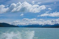 Navigation on Argentino lake, Patagonia landscape, Argentina. Patagonian panorama el calafate lago los glaciares national park america argentinian background royalty free stock photography