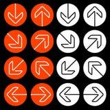 Navigation arrows Stock Images