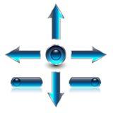 Navigation arrows, web buttons Stock Images