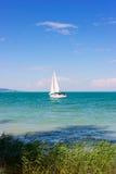 Navigation au lac Balaton Images stock