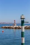 Navigation baken on coast a sea Stock Image