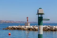 Navigation baken on coast a sea Stock Photography