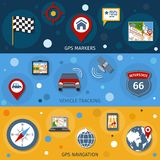 Navigation Banners Set Stock Images