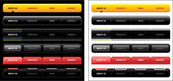Navigation Bar Design 1 Stock Images