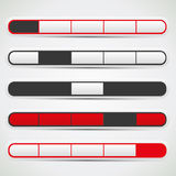 Navigation bar set with red, white and black colors Royalty Free Stock Photography