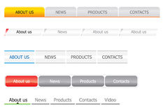 Navigation bar templates. For site with light background Stock Image