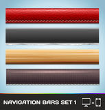 Navigation Bars For Web And Mobile Set1 Royalty Free Stock Photos