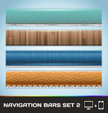 Navigation Bars For Web And Mobile Set 2 Stock Photos