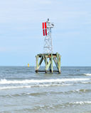 Navigation beacon. In the water at Fernandina beach, Florida Royalty Free Stock Photos