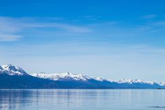 Navigation on Beagle channel, beautiful Argentina landscape. Navigation on Beagle channel, Argentina landscape. Tierra del Fuego fire southernmost ushuaia royalty free stock photo