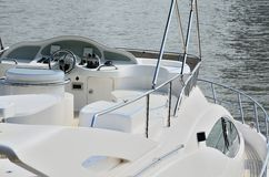 Navigation Bridge of Yacht Royalty Free Stock Photos
