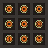 Navigation Button Icons Stock Photography