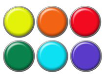 Navigation buttons. Set of different colors buttons for webpage etc Stock Image