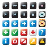 Navigation buttons royalty free illustration