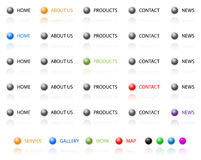 Navigation buttons for web. Royalty Free Stock Image