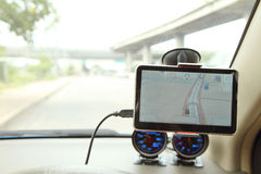 Navigation in the car Stock Photography